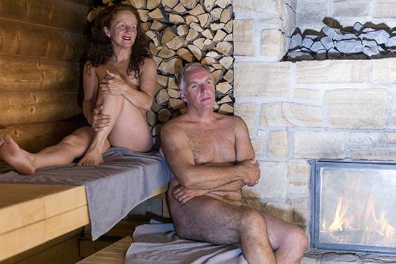 grote foto maa-sauna binnen